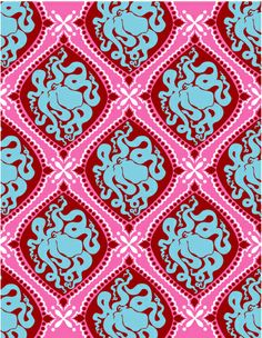 Octopus Pattern. In place of something gaudy and french