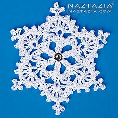 This Snowflake Ornament works great with any type of yarn or thread. My favorite is to use size 3 crochet thread, since it's not too thin, but still makes delicate-looking snowflakes. Free Crochet Snowflake Patterns, Christmas Crochet Patterns, Crochet Snowflakes, Snowflake Ornaments, Christmas Snowflakes, Christmas Crafts, Crochet Christmas, Types Of Yarn, Thread Crochet