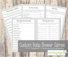 game digit, baby shower games, shauna shower, shower boy, shower neutral