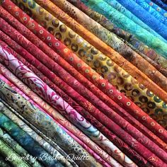 """A little peak at """"Jellybean"""" batiks, can't wait to start on my quilts for Fall Market Laundry Basket Quilts, Laundry Baskets, Fabulous Fabrics, Jelly Beans, Quilting Ideas, Salwar Suits, Blouses, Fancy, Touch"""
