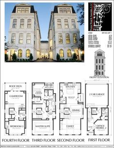 Townhome plan e2088 a1 1 develop it pinterest Elevator townhomes