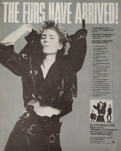 The Psychedelic Furs Promotional Ad https://www.facebook.com/FromTheWaybackMachine/