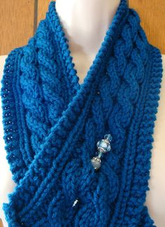 Check out this item in my Etsy shop https://www.etsy.com/listing/202232191/cowl-scarf-cable-scarf-blue-knit-womens