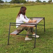 Camping Table - Thinking Of Taking A Camping Trip? Nomadic Furniture, Pipe Furniture, Steel Furniture, Furniture Design, Camping Style, Diy Camping, Camping Furniture, Outdoor Furniture, Iron Work
