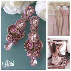 Veronique Creazioni Shibori, Soutache Earrings, Bling, Embroidery, Floral, Flowers, Diy, Jewellery, Fashion