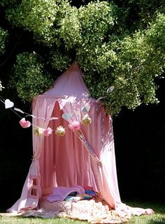 Creating Magical Spaces for Kids at Home - I should really make one of these for summer...