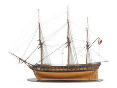 Wooden sailing ship 2 circa 1800