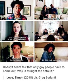 I have already watched Love Simon at least twelve times but every time I watch this part, I piss myself laughing Nick Robinson, George Rr Martin, Jennifer Garner, Amor Simon, Jacques A Dit, Becky Albertalli, Lgbt Memes, Netflix, Por Tv