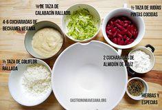 Hamburguesas de alubias y verduras con bechamel