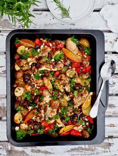 Cooking Recipes, Healthy Recipes, Healthy Food, Kung Pao Chicken, Paella, Pasta Salad, Food Inspiration, Feta, Ethnic Recipes