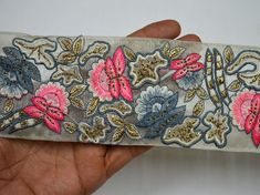 Wholesale Grey Indian Laces Saree Border Fabric Trims By 9 Yard Embellishment Embroidered Ribbon Decorative Sari Border Sewing Costume trim You Can Purchase From What's App no. is We also take wholesale enquires. Sewing Lace, Sewing Trim, Lace Saree, Saree Border, Indian Fabric, Decorative Trim, Antique Lace, Ribbon Crafts, Embroidery Techniques