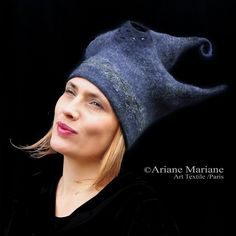 Ariane Mariane makes fun little fascinators out of felt along with large statement sculptural pieces like this one.