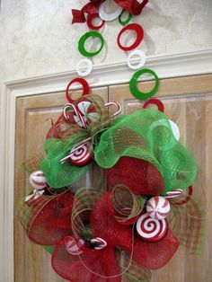 Cute wreath to match my peppermint theme