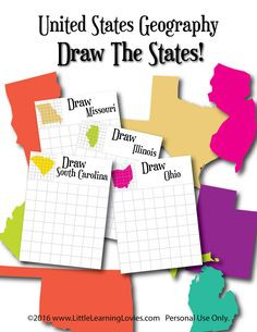Download this FREE US Geography Learning Pack