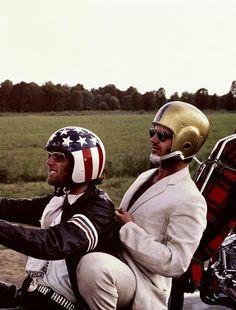 Peter Fonds e Jack Nicholson em Easy Rider