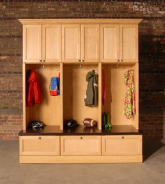 Furniture, Custom DIY Mudroom Cubby Design With Locker Hooks And Drawer Shoe Rack Storage Under Bench Seat Ideas ~ Mudroom Cubby
