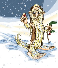Barbegazi- Swiss, French myth: a white snow gnome. It had a long beard and huge feet that it used to ski down mountains. It would ride avalanches but warn humans of them by whistling. If a person got trapped in snow they would try their best to rescue the person.