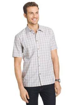 Van Heusen  Big  Tall Short Sleeve Check Traveler Camp Woven Shirt