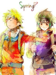 grafika naruto and sasuke