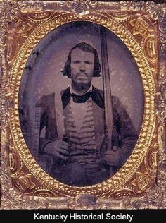 "Confederate man, ""Jeff Davis and the South!"" :: KHS Digital Collections"