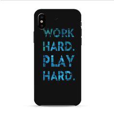 Work Hard Play Hard iPhone X 3D Case