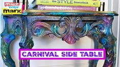 Makeover a boring side table with Unicorn SPiT!