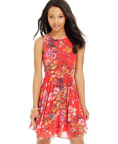 B Darlin Juniors' Floral Dress