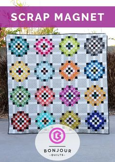 Scrap Magnet Scrappy Quilts, Baby Quilts, Rainbow Blocks, Modern Quilt Patterns, How To Finish A Quilt, Baby Blocks, Quilt Tutorials, Quilt Making, Quilting Projects