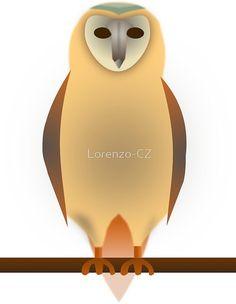 """Barn owl"" by Lorenzo-CZ Framed Prints, Canvas Prints, Art Prints, Skin Case, Long Hoodie, Laptop Sleeves, Decorative Throw Pillows, Chiffon Tops, Classic T Shirts"
