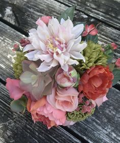 Coral Reef Bridal Bouquet