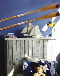 Brown Tip Wooden Decorative Oar - Nautical Decor - Decorative Oars - Lifeboat Oar- Decorative