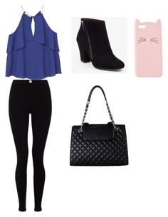 """""""Casual School Day Outfit #19"""" by seragart on Polyvore featuring Lipsy, MANGO, BCBGeneration, Rimen & Co. and Charlotte Russe"""