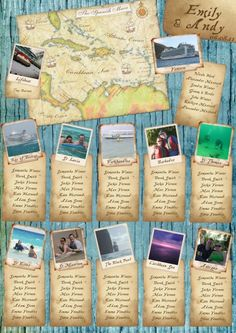 Caribbean Map Table Plan - SO perfect for jessy - surveyor with diving hobby.. hahaha