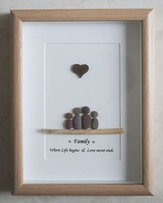 Pebble+Art+framed+Picture+Family+by+Jewlls4u+on+Etsy