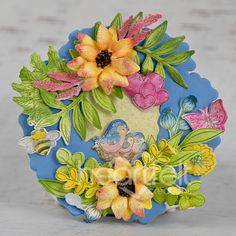 Heartfelt Creations, Summer Wreath, Greeting Cards Handmade, Altered Art, Cardmaking, Art Projects, Magnets, Floral Wreath, Paper Crafts