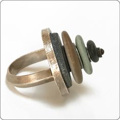 Stacked Beach Stones Ring