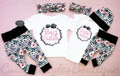 Matching Outfits Big Sister Little Sister Victorian Floral Big Sister Little Sister, Little Sisters, Toddler Clothing Stores, White Bodysuit, Coming Home Outfit, Floral Headbands, Floral Leggings, Baby Outfits, Matching Outfits