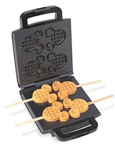 If you are on the go like I am today in my Disney Find I take a look at this Mickey Waffle Stick Maker. Cozinha Do Mickey Mouse, Mickey Mouse Kitchen, Comida Disney, Disney Food, Disney Dishes, Disney Stuff, Casa Disney, Disney Mickey, Disney House