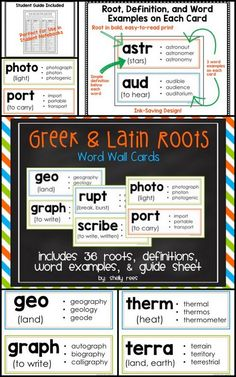 greek and latin roots thesis Essays greek and latin root this unit provides students with a feast of greek and latin root words and a welldeveloped taste for the rich greek/latin roots.
