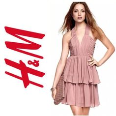"""H&M By Night Spring/Summer 2011 Collection Dress Draped, low-cut dress with corset panels and a silicone trim at the top. Wide shoulder straps that cross at the back, and a zip at the back. Two-tiered skirt section. Lined. Length from shoulder strap attachment at the back 27½""""/70 cm in size 12. Details 100% polyester. Machine wash at 30˚ H&M Dresses"""