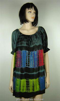 FESTIVAL - HIPPIE Tie Dye BOHO GYPSY Top/Dress Sz 12 - 18 Au