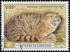 Cambodia 1996 Wild Cat Stamps