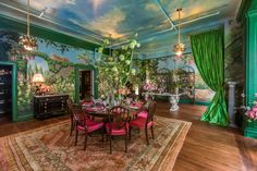 Ken Fulk Explains How to Create a Festive Dining Room Kips Bay Showhouse, Best Interior Paint, Luxury Interior, Dining Room Wallpaper, Shabby, 2017 Design, Design Design, House Design, Top Interior Designers