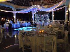 Private Dinner at LAGUNA in Mayan Pearl Bridal White with Pink accents at the Grand Palladium Riveria Maya, external DJ Ddmusic Playadelcarmen