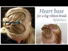 Heart base for a big ribbon braid - Hart basis voor een brede vlecht met...