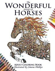 10 Adult Horse Coloring Books