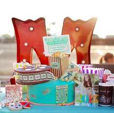 Now, this isn't your ordinary movie themed girl birthday party. Have a birthday all the kids will love with movie speaker cake pops to personalized gifts for all the guests.