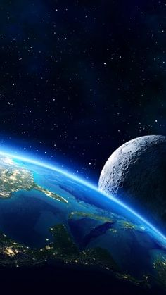Earth Moon Planet Star 5k Vertical Galaxy Wallpaper