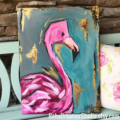 Bird drawing painting canvases 40 Ideas for 2019 Flamingo Painting, Flamingo Art, Abstract Canvas, Canvas Art, Bird Canvas Paintings, Arte Sketchbook, Bird Artwork, Tree Wall Art, Bird Drawings