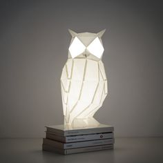 Night Owl  DIY White Paperlamp by OWLpaperlamps on Etsy